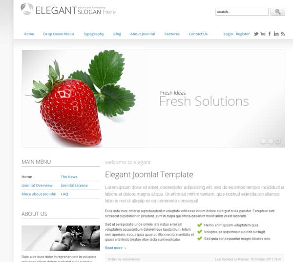 elegant 25 Best Joomla Templates for Inspiration
