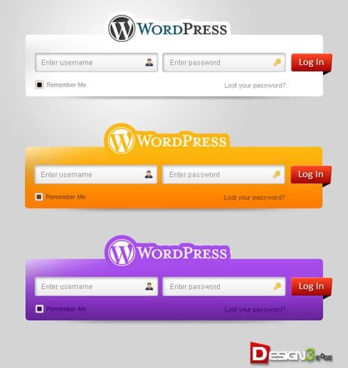 fresh wordpress login form set 500 30 Free PSD Login Page Templates