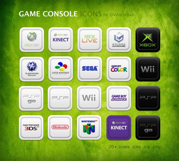 game console icons 30+ iPhone App Icons Collections