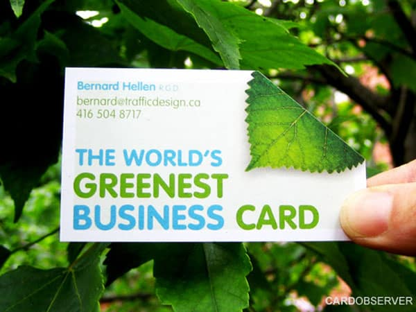 greenest card 50+ Green Business card Designs