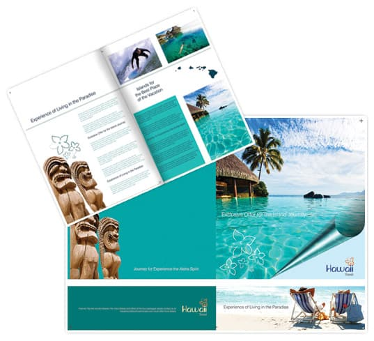 30 beautiful travel brochure designs for Free travel brochure templates