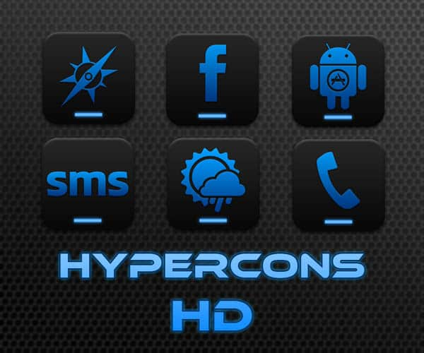 hypercons   android hd icon pack by dxdreamx d4f99m8 40+ Android Icons Collections