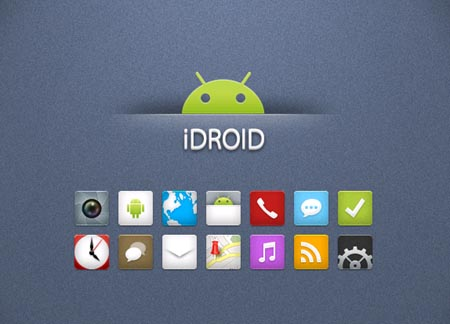 iDroidiconsforAndroid 40+ Android Icons Collections
