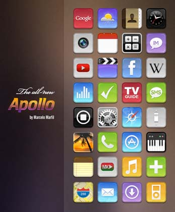 ifoneicon18 30+ iPhone App Icons Collections