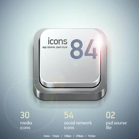 iphone apps icons 30+ iPhone App Icons Collections