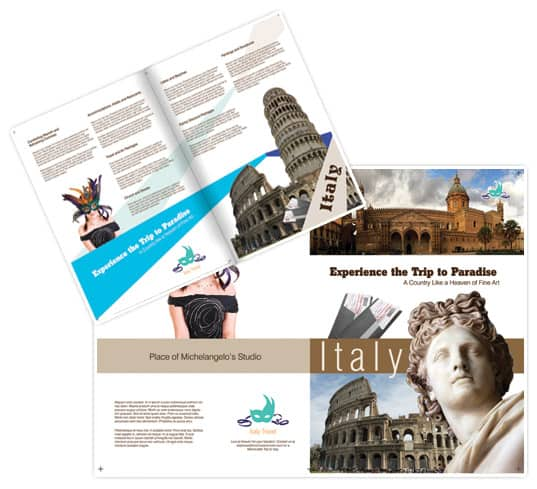 italy 30 Beautiful Travel Brochure Designs