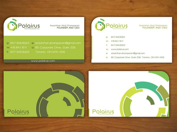 k.a.d.a 50+ Green Business card Designs