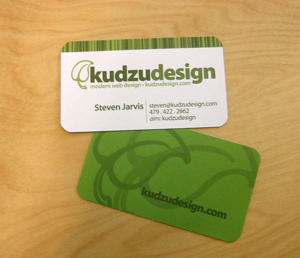 kudzu 50+ Green Business card Designs