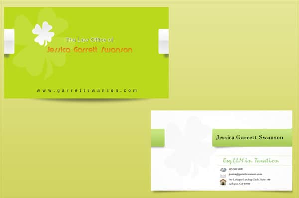 law business cards 50+ Green Business card Designs