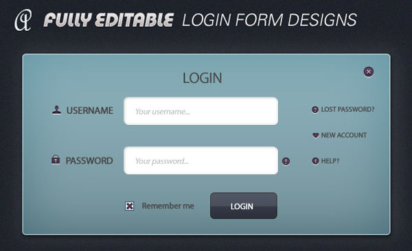 login form antsmagazine 30 Free PSD Login Page Templates