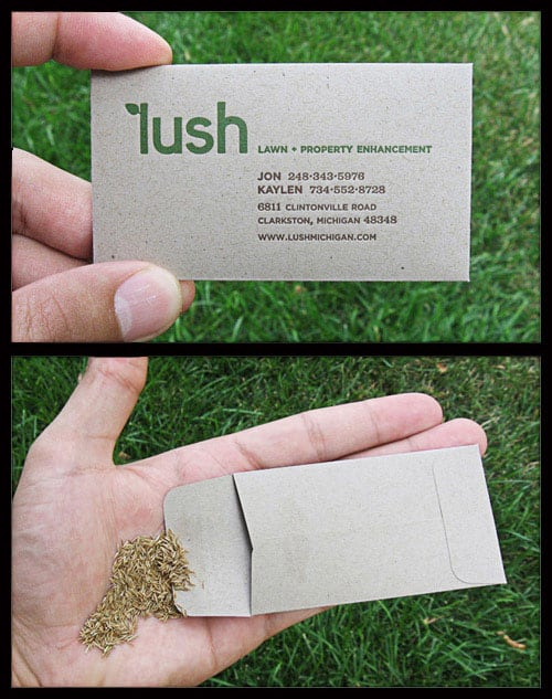 lush green 50+ Green Business card Designs
