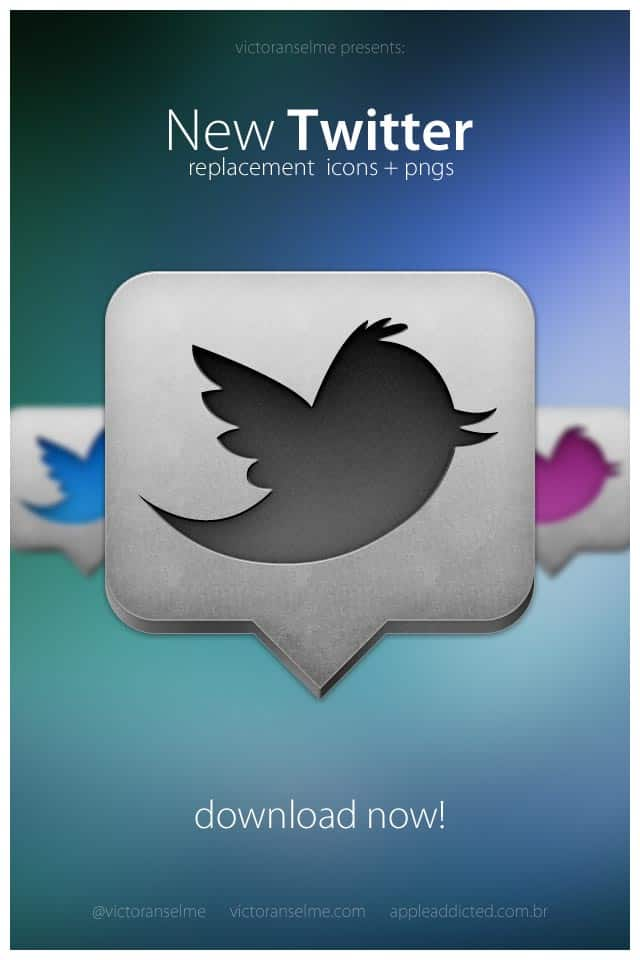 new twitter icon 30+ iPhone App Icons Collections