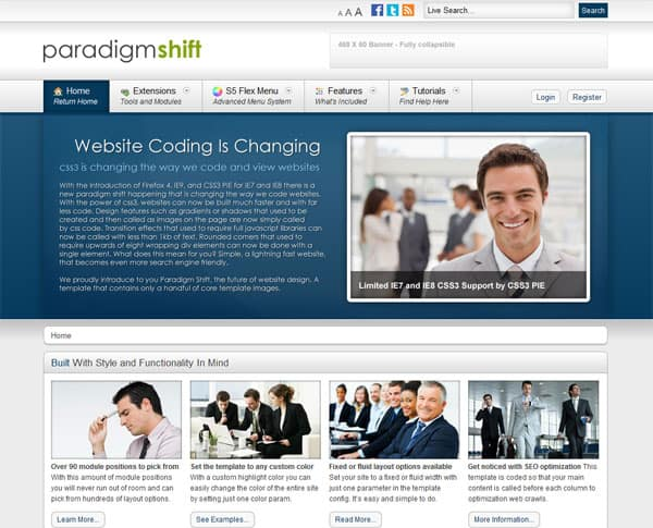 paradigm shift 25 Best Joomla Templates for Inspiration