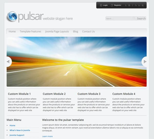 pulsar 25 Best Joomla Templates for Inspiration
