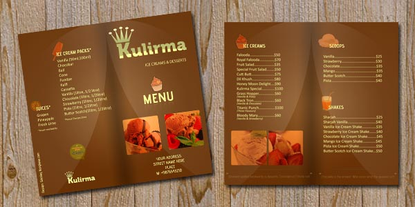 Restaurant Menu Brochure PSD