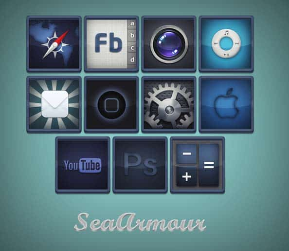 seaarmour  30+ iPhone App Icons Collections