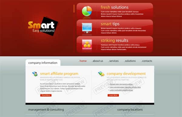 smart 25 Free Dreamweaver CSS Templates