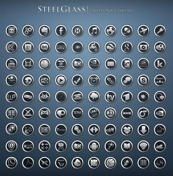 steelglass icons for android 40+ Android Icons Collections