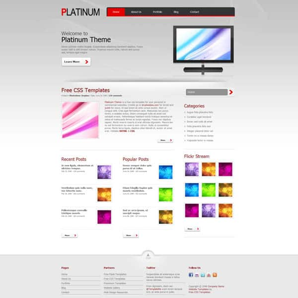 25 free dreamweaver css templates available to download templatemo336platinum maxwellsz