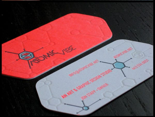 ATOMICvibe business cards 30 Classy Business Cards