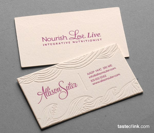 Allison Suter 30 Classy Business Cards