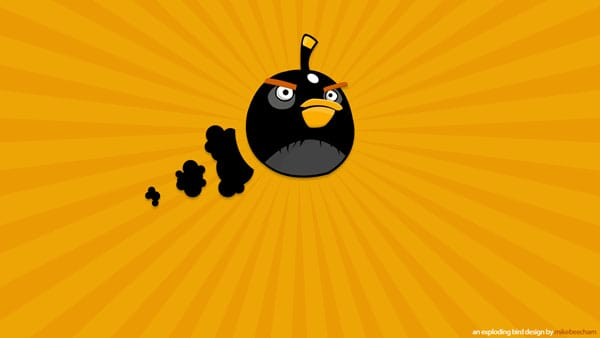 Black angry Bird 20 HD Angry Birds Pictures for your Desktop