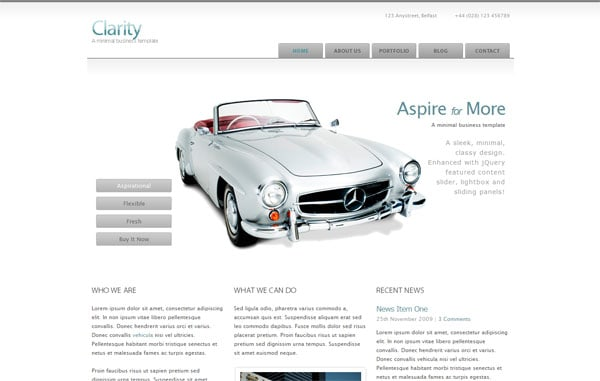 Clarity - A minimal business template