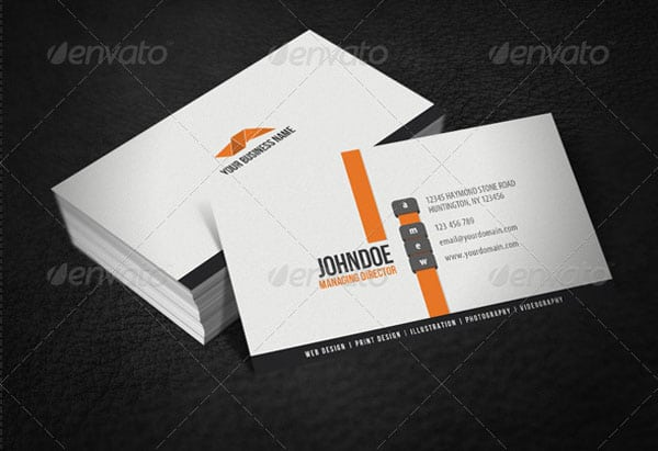 Clean Modern Business Card 30 Classy Business Cards