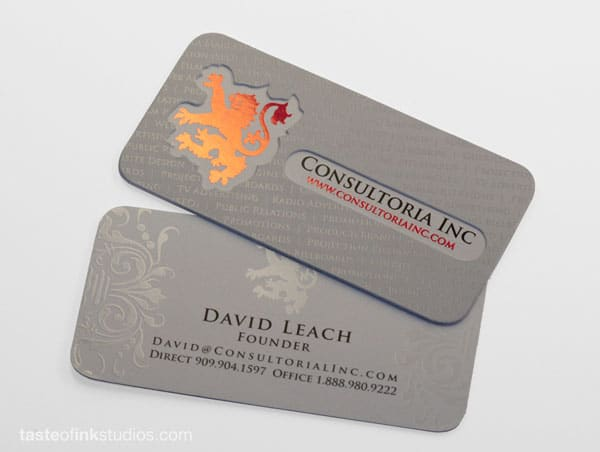 Consultoria Doublethick Business Card 30 Classy Business Cards