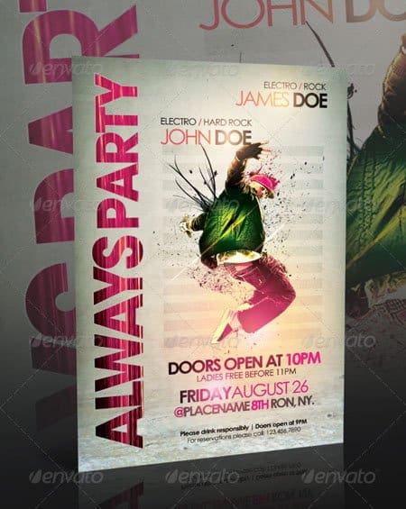GraphicRiver Always Party Flyer Template 20+ Free Party Flyer Templates Collections
