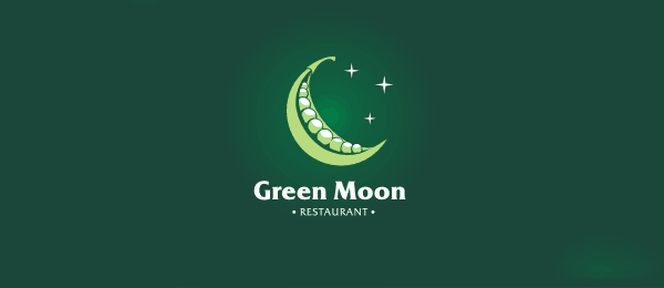 Green Moon Funny Logos   Designer Inspiration