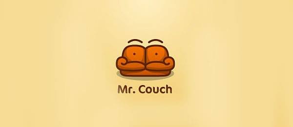 Mr. Couch Funny Logos   Designer Inspiration