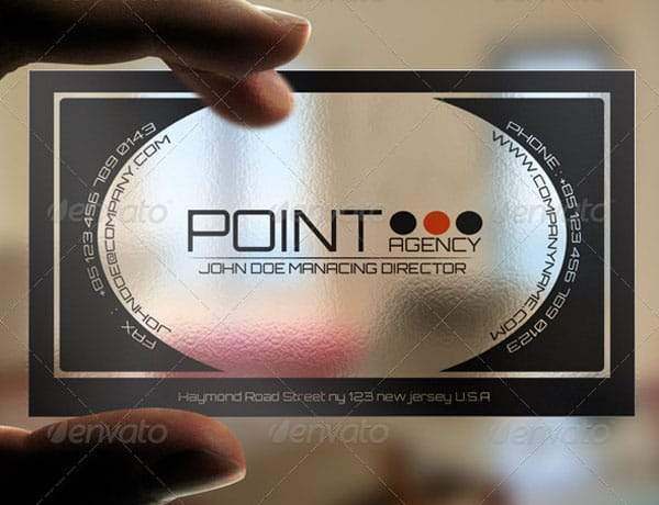 Point Transparent Card 30 Classy Business Cards