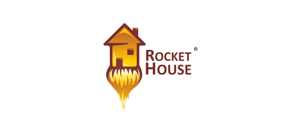 Rocket House Funny Logos   Designer Inspiration