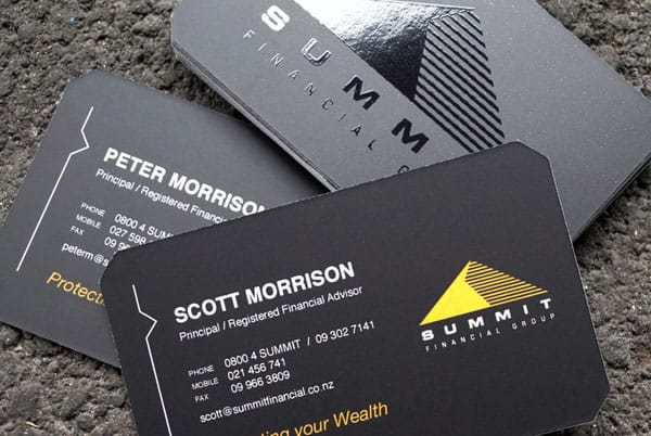 Summit Financial Business Cards 30 Classy Business Cards