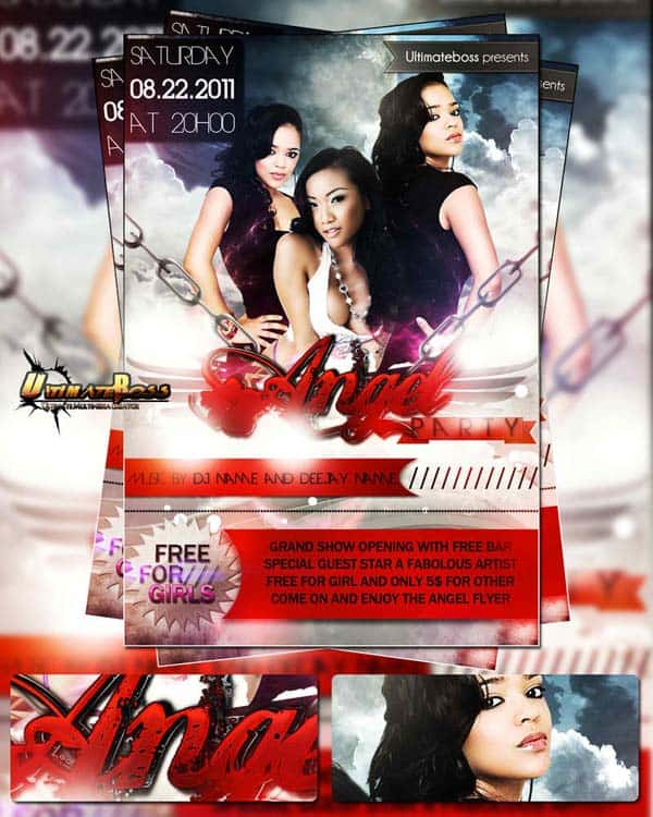 angel 20+ Free Party Flyer Templates Collections