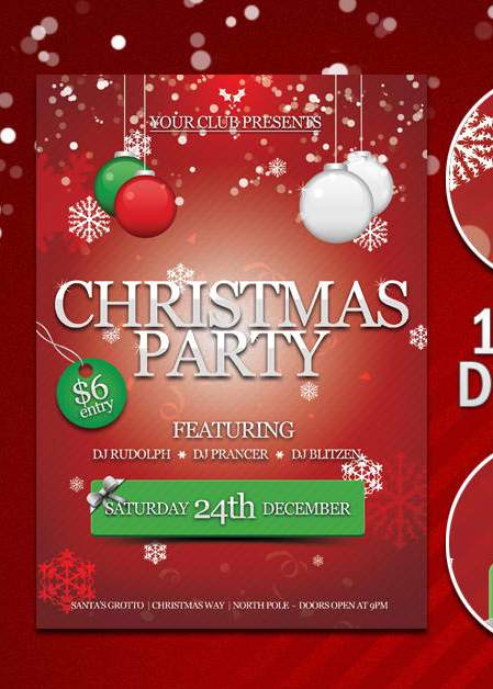 free christmas party flyer psd by kronendesign d4hcbcb 20+ Free Party Flyer Templates Collections