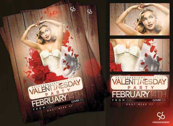 free v  day flyer sample by fr3shz d38sut9 20+ Free Party Flyer Templates Collections