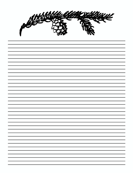 5 Lined Paper Templates – Template for Lined Paper