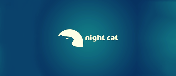 night cat v2 Funny Logos   Designer Inspiration