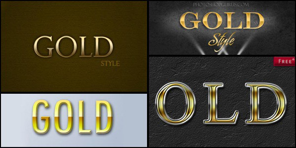photoshop gold styles