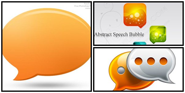 speech-bubble psd
