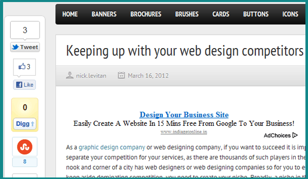 web design competitors