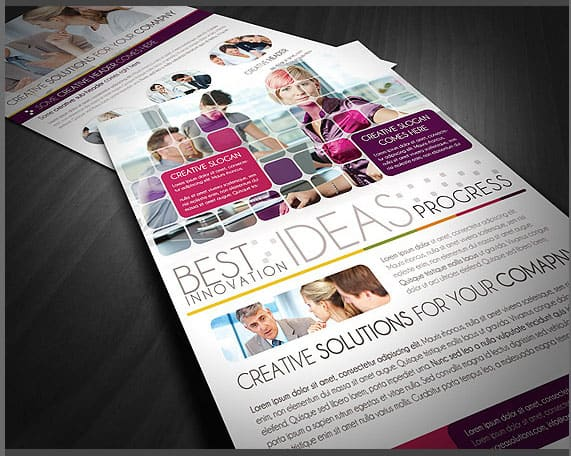 4 Clean Business Flyer Templates 20 Corporate Business Flyer Templates