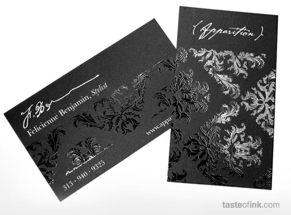 Apparition Business Card 40+ Impressive Foil Stamped Business Cards