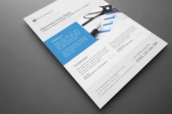 Clean Professional Corporate Flyer 20 Corporate Business Flyer Templates