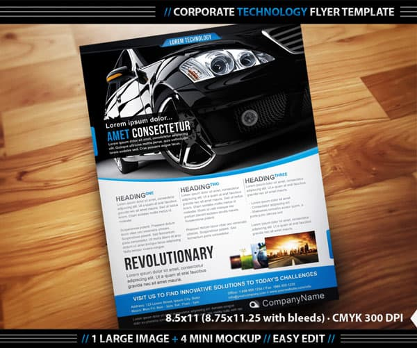 Corporate Technology Flyer Template 20 Corporate Business Flyer Templates
