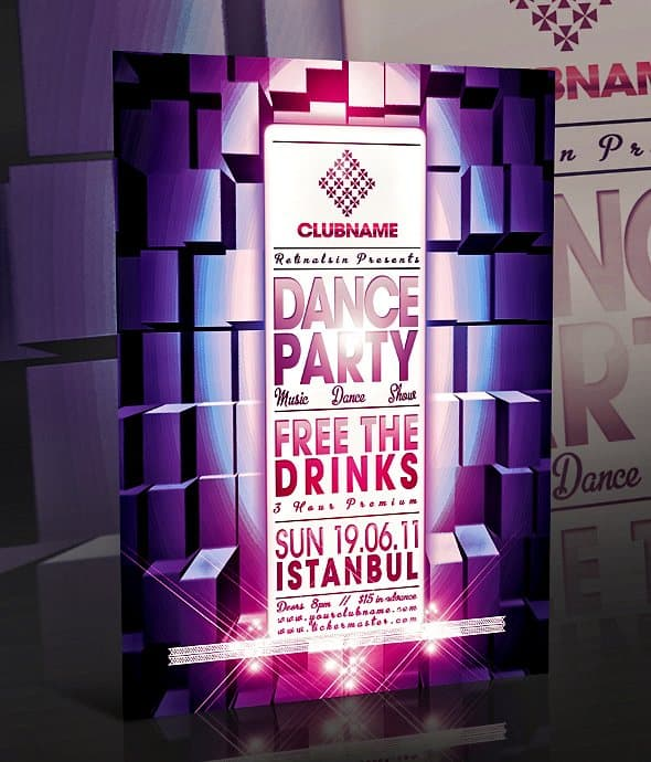 Dance Party Flyer 35 Free and Premium PSD Nightclub Flyer Templates