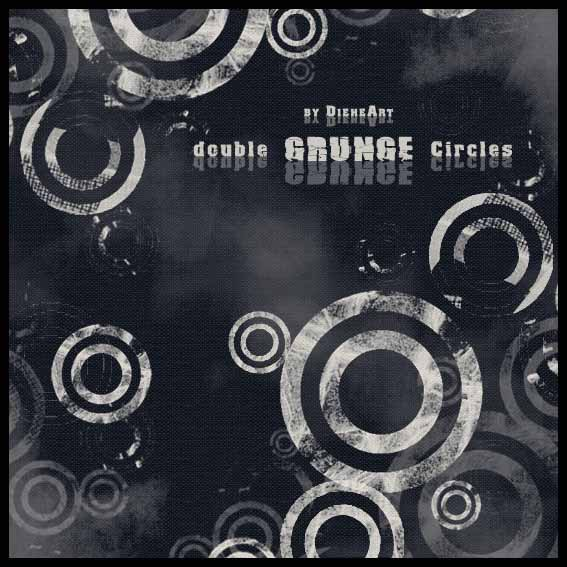 Double Grunge Circles by DieheArt 20 Photoshop Grunge Brushes