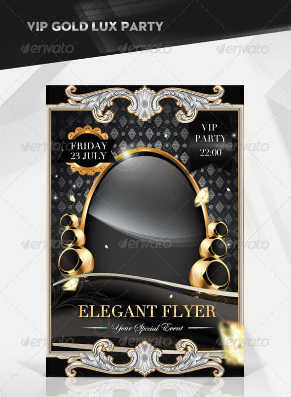 Elegant Friday VIP Party Flyer 35 Free and Premium PSD Nightclub Flyer Templates